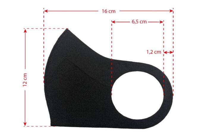 musta maski mõõdud